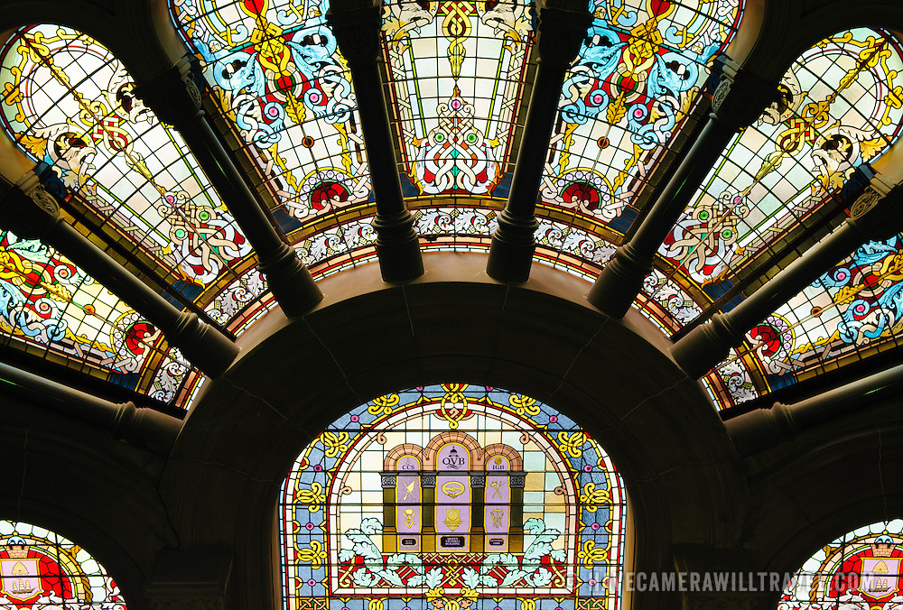 Stained glass window in Queen Victoria Building shopping mall in Sydney's CBD.