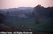 PA Landscapes, Fog and Farm Meadow, York Co., Pennsylvania