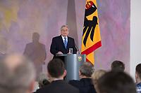 22 FEB 2013, BERLIN/GERMANY:<br /> Joachim Gauck, Bundespraesident, haelt eine Rede zu Europa, Schloss Bellevue<br /> IMAGE: 20130222-02-009<br /> KEYWORDS: Europarede, speech, Europe, Bellevue Forum
