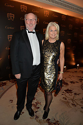 CHRIS & JANICE WRIGHT at the 26th Cartier Racing Awards held at The Dorchester, Park Lane, London on 8th November 2016.