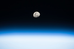 August 8, 2017 - Space - Image Released Today: From his vantage point in low Earth orbit aboard the International Space Station, NASA astronaut Randy Bresnik pointed his camera toward the rising Moon and captured this beautiful image on August 3, 2017. Looking forward to the August 21 total solar eclipse, Bresnik wrote, 'Gorgeous moon rise! Such great detail when seen from space. Next full moon marks Eclipse2017. We'll be watching from Space Station.' (Credit Image: ? NASA/ZUMA Wire/ZUMAPRESS.com)