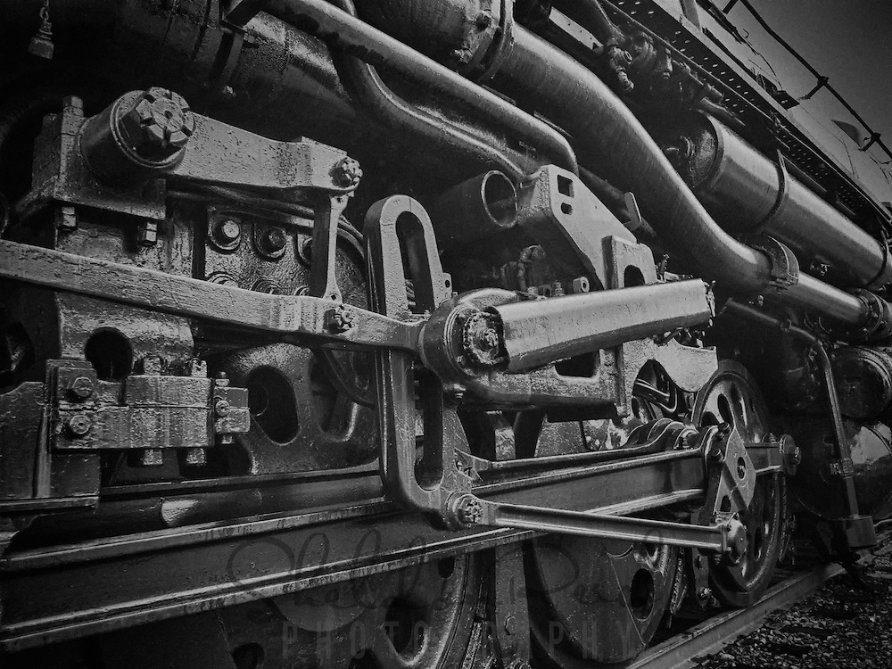"""Retired steam locomotive, """"Big Boy"""" at Steamtown, USA, National Park."""
