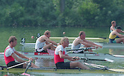 Lucerne, Switzerland. 1995 FISA WC III, Lake Rotsee, Lucerne,<br /> GBR M2-, Bow Steve REDGRAVE and Matthew PINSENT at the start of the heat.<br /> [Mandatory Credit. Peter SPURRIER/Intersport Images]<br /> <br /> Image scanned from Colour Negative