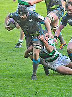 Rugby Union - 2020 / 2021 European Rugby Challenge Cup - Round of 16 - Ospreys vs Newcastle Falcons - Liberty Stadium<br /> <br />  Morgan Morris Ospreys tackled by  Ben Stevenson Newcastle Falcons<br /> <br /> COLORSPORT/WINSTON BYNORTH