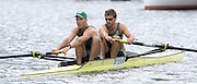 2005 Henley Royal Regatta, Henley on Thames, ENGLAND. 30.06.2005 Heat of the Silver Goblets and Nichalls' Challenge Cup,[ Left] Donavan Cech [left] and Ramone DiClemente, Trident rowing Club South Africa, paddle home to win their heat, on the second day of the 2005 Henley Royal Regatta. Photo  Peter Spurrier. .email images@intersport-images..[Mandatory Credit Peter Spurrier/ Intersport Images] . HRR.