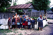 Women and children in village rural countryside area, Romania, eastern Europe 1967