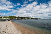 View of the Mackinac Island Harbor, Mackinac Island, Lake Huron; Michigan, USA.