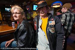 Inside Sopotniks Cabbage Patch Bar during the Wednesday festivities. Daytona Bike Week. FL, USA. March 12, 2014.  Photography ©2014 Michael Lichter.