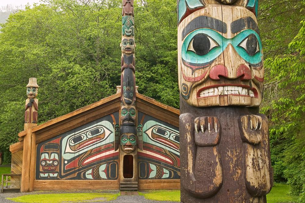 USA, Alaska, Inside Passage, Ketchikan, Totem Bight, State Historic Site