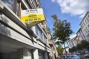Belgie, Antwerpen, 8-10-2012Stadsgezicht, straatbeeld van deze stad in Vlaanderen. Huizen te koop en kantoren te huur.Foto: Flip Franssen/Hollandse Hoogte