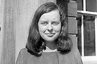 Bernadette Devlin, Unity candidate, Mid-Ulster constituency, UK Parliamentary by-election on 17th April 1969. 196904050146BD2.<br /> <br /> Copyright Image from Victor Patterson,<br /> 54 Dorchester Park, Belfast, UK, BT9 6RJ<br /> <br /> t1: +44 28 90661296<br /> t2: +44 28 90022446<br /> m: +44 7802 353836<br /> <br /> e1: victorpatterson@me.com<br /> e2: victorpatterson@gmail.com<br /> <br /> For my Terms and Conditions of Use go to<br /> www.victorpatterson.com
