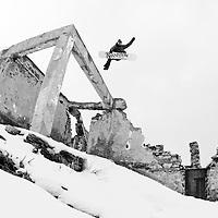 Jonas Emery, bombed out ruin, Macedonia.