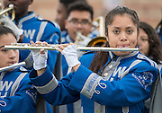 Members of the Westbury Band perform as Houston ISD middle school students participate in Special Olympics Field Day at Butler Stadium, November 9, 2016.