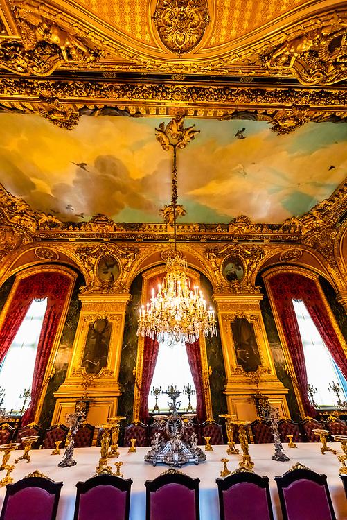 Dining room, Napoleon III's apartments, Louvre Museum, Paris, France.