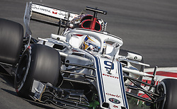May 11, 2018 - Barcelona, Catalonia, Spain - MARCUS ERICSSON (SWE) drives during the first practice session of the Spanish GP at Circuit de Catalunya in his Alfa Romeo Sauber C37 (Credit Image: © Matthias Oesterle via ZUMA Wire)