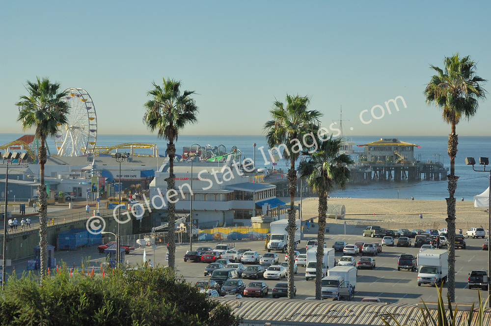 In September of 1909 the Santa Monica Municipal Pier opened to the public after sixteen months of construction. <br /> <br /> By the early seventies it had deteriorated to the point the city voted to have it demolished. <br /> <br /> Locals rallied to have it saved and successfully had it declared a Los Angeles County Historical Site. <br /> <br /> Later its Hippodrome and carousel were designated as a National Historic Landmark. <br /> <br /> By 1988 the pier was completely refurbished in its current form.