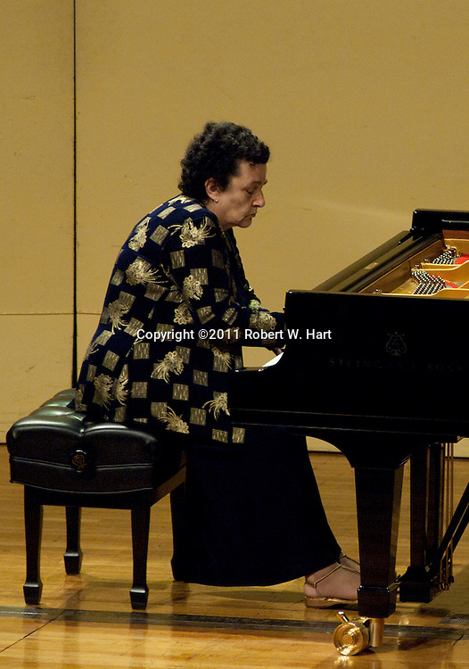 Competitor Nazeli Atayan Rohman-Flynn performing at Ed Landreth Hall on the TCU campus on May 23, 2011...Special Contributor/Robert W. Hart