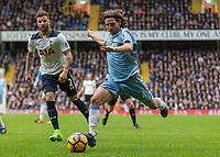 Football - 2016 / 2017 Premier League - Tottenham Hotspur vs. Stoke City<br /> <br /> Joe Allen of Stoke City races into the Tottenham penalty area at White Hart Lane.<br /> <br /> COLORSPORT/DANIEL BEARHAM