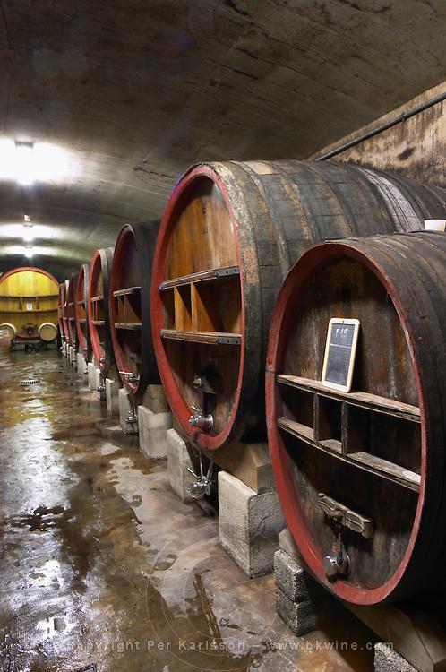 wooden vats domaine du grand tinel chateauneuf du pape rhone france