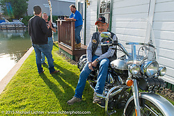 The Channel Cottages during Laconia Motorcycle Week. Laconia, NH, USA. June 16, 2015.  Photography ©2015 Michael Lichter.