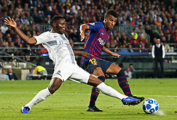 October 24, 2018 - Barcelona, Spain - Kwadwo Asamoah and Rafinha during the match between FC Barcelona and Inter, corresponding to the week 3 of the group stage of the UEFA Champions Leage, played at the Camp Nou Stadium, on 24th October 2018, in Barcelona, Spain. (Credit Image: © Joan Valls/NurPhoto via ZUMA Press)