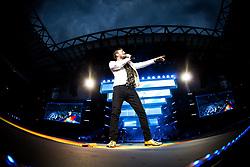 June 20, 2018 - Milan, Milan, Italy - Italian singer Cesare Cremonini performing live at Stadio Giuseppe Meazza San Siro in Milan, Italy, on 20 June 2018. (Credit Image: © Roberto Finizio/NurPhoto via ZUMA Press)