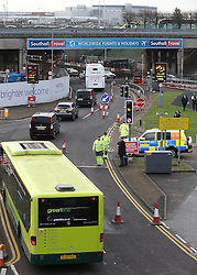 © Licensed to London News Pictures. 26/11/2015. London, UK.  A group of Airport expansion activists cause traffic chaos by blocking off the inbound tunnel of Heathrow airport in London to protest against airport expansion.  Photo credit: Peter Macdiarmid/LNP