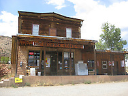 USA: Colorado: Montrose County: Bedrock: The historic Bedrock Store in the Paradox Valley in Southwest Colorado. Bedrock was established in 1883.