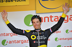 July 18, 2017 - Romans-Sur-Isere, FRANCE - French Sylvain Chavanel of Direct Energie receives the combativity award for the most aggressive rider after the sixteenth stage of the 104th edition of the Tour de France cycling race, 165km from Le Puy-en-Velay to Romans-sur-Isere, France, Tuesday 18 July 2017. This year's Tour de France takes place from July first to July 23rd. BELGA PHOTO DAVID STOCKMAN (Credit Image: © David Stockman/Belga via ZUMA Press)