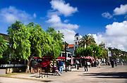 People Walking Around Old Town Market in San Diego