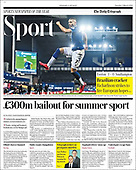 March 02, 2021 (UK): Front-page: Today's Newspapers In United Kingdom