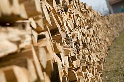 13.03.2011, Graz, AUT, Feature, im Bild der natürliche Energietraeger Holz in Scheite geschnitten und in Stapeln gelagert, EXPA Pictures © 2012, PhotoCredit: EXPA/ Erwin Scheriau