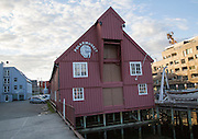Historic wooden building housing the Polar Museum, Tromso, Norway