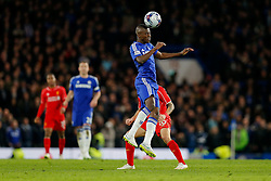 Ramires of Chelsea heads the ball as Philippe Coutinho of Liverpool challenges during extra time - Photo mandatory by-line: Rogan Thomson/JMP - 07966 386802 - 27/01/2015 - SPORT - FOOTBALL - London, England - Stamford Bridge - Chelsea v Liverpool - Capital One Cup Semi-Final Second Leg.