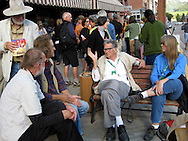 Ross Krantz with family and friends on Colorado Avenue during the Telluride Film Festival in 2007, Telluride, Colorado, USA.