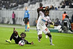 October 28, 2018 - Bordeaux, France - 05 ADRIEN TAMEZE (NICE) - 10 SAMUEL KALU (BOR) - FAUTE (Credit Image: © Panoramic via ZUMA Press)