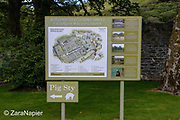 Map and Information about the gardens (area by The Victorian Walled Garden at Kylemore Abbey. Only plants and flowers that were introduced to Ireland before 1901 are used in the gardens. The 6 acre garden is to the west of the Abbey originally known as a castle when it was built by Mitchell and Margaret Henry in the 1850's. The garden is on a south slope at the foot of Duchruach Mountain and facing Diamond Hill. It was chosen as the warmest and brightest spot on the estate with a mountain stream providing water. It is now a Benedictine community; open seven days a week all year round. The Abbey is located in Connemara in the west of Ireland. August