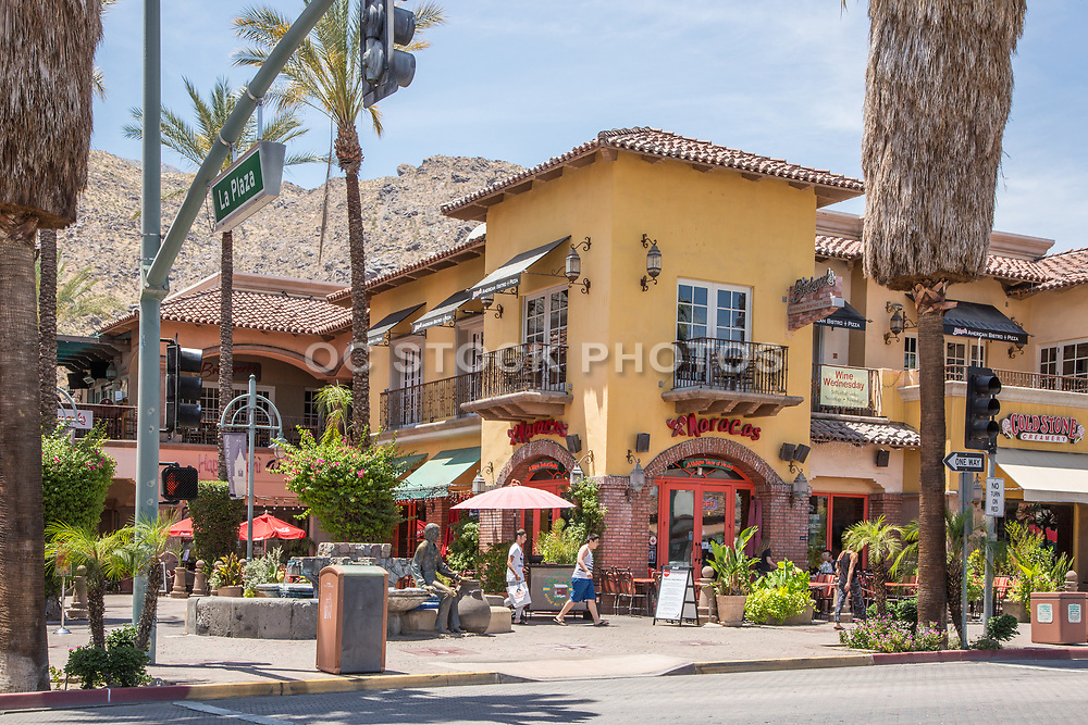 Downtown Palm Springs on Palm Canyon Drive and La Plaza