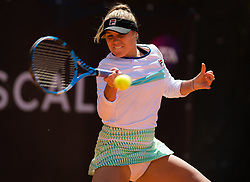 May 16, 2019 - Rome, ITALY - Sofia Kenin of the United States in action during her second-round match at the 2019 Internazionali BNL d'Italia WTA Premier 5 tennis tournament (Credit Image: © AFP7 via ZUMA Wire)