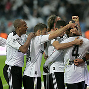 Besiktas's Manuel FERNANDES (R) celebrate his goal with team mate during their Turkey Cup final match Besiktas between Istanbul BB at the Kadir Has Arena at Kayseri Turkey on wednesday, 11 May 2011. Photo by TURKPIX