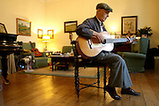 Fernando Alvim portraited at his house. Alvim is one of the Fado composers which is a reference for younger ones.