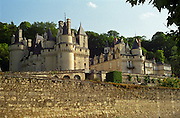 The Chateau d'Usse in Loire, the castle that inspired the story about The Sleeping Beauty, Maine et Loire, France