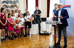 Luc Vergoossen of FIBA at Reception of Women's Eurobasket 2019 teams and FIBA officials at Darko Bulatović, Mayor of City of Nis, on June 29, 2019 in City hall, Nis, Serbia. Photo by Vid Ponikvar / Sportida
