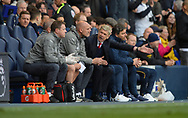 An unhappy Arsene Wenger manager of Arsenal after the 2nd during the English Premier League match at the White Hart Lane Stadium, London. Picture date: April 30th, 2017.Pic credit should read: Robin Parker/Sportimage
