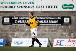 East Fife's player manager Gary Naysmith at the end of the game. <br /> East Fife 1 v 0 Stirling Albion, Scottish Football League Division Two game played atBayview Stadium, 20/2/2106.