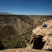 The Catacombs is a area along the rim of the Owens River Gorge of unusually shaped rocks that appeal to hikers and rock climbers .
