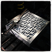 """Machining the 8""""x10"""" film pressure plate for the """"Modern Industry"""" camera."""