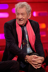 Sir Ian McKellen during filming of the Graham Norton Show at The London Studios.