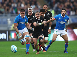 November 24, 2018 - Rome, Italy - Italy v New Zealand All Blacks - Rugby Cattolica Test Match.Italys Luca Sperandio and New Zealands TJ Perenara  at Olimpico Stadium in Rome, Italy on November 24, 2018. (Credit Image: © Matteo Ciambelli/NurPhoto via ZUMA Press)