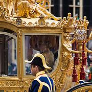 NLD/Den Haag/20130917 -  Prinsjesdag 2013, Konigin Maxima in de Gouden Koets